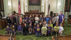 Bonita Elementary School Visits Assembly Floor