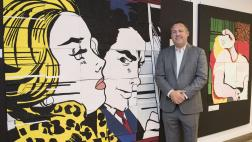 Assemblymember Gray with Capitol Annex Hallway Art