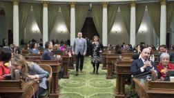 Assemblymember Gray Walks with Woman of the Year Mireya Rivera Aguilar