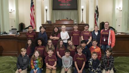 Assemblymember Gray welcomes the Montessori Project Orangevale to the Assembly Floor