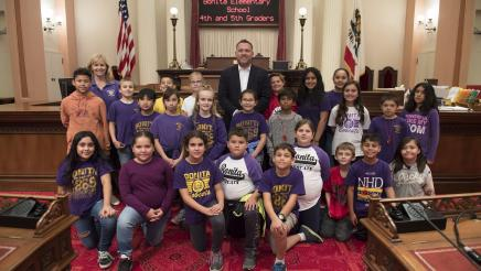 Assemblymember Gray Welcomes Bonita Elementary School on the CA State Senate Floor